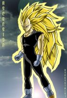 ssj3 vegeta full body colored by rondostal91