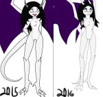 .:Another Old vs New:. by Necro-Girl
