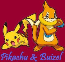 Buizel and Pikachu by Dark-Infernape