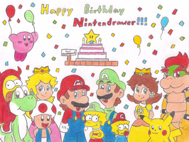 Happy Birthday Nintendrawer by MarioSimpson1