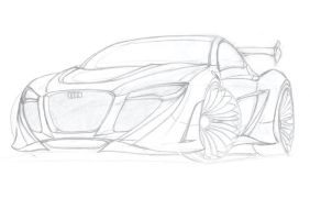 Audi sketch by Morfiuss
