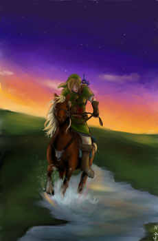 The Horse of the Hero by MelodicArtist