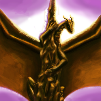 Dragon On Spire by TheMagicalPot