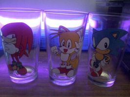 sonic glasses by JessePants