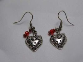 Strawberry Charm Earrings by LadySiha