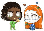 Arien and Inzaias Baby Commissions by MiniLeiProductions