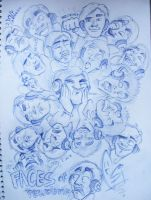 Faces of Pewdiepie by ScribbleNetty