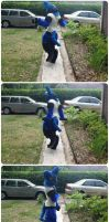 Lucario Fursuit by HesperCambrie