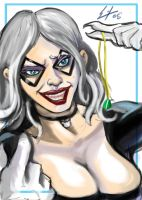 Digital Sketchcard Black cat by ErikHodson