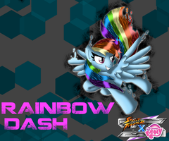 SFxMLP Rainbow Dash wallpaper v3 by CrossoverGamer