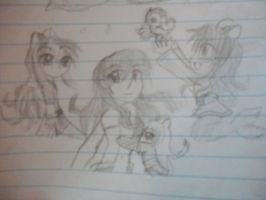 Kagome the mermaid and kids by TheCape99