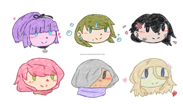+BnHA OC+ Little crayon heads by Nicas-Tan
