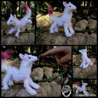 OOAK Handmade Poseable White Kitsune - SOLD by SonsationalCreations