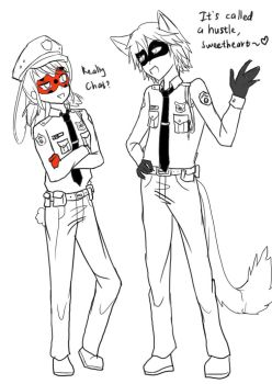 Zootopia x Ladybug - cop of Paris by nuzaru