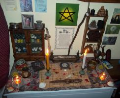 Wiccan Summer Altar by DeadPeppermint