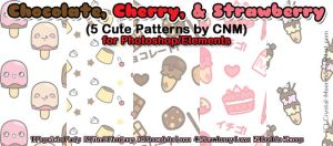 Chocolate, Cherry, and Strawberry Patterns by CNM by Crystal-Moore