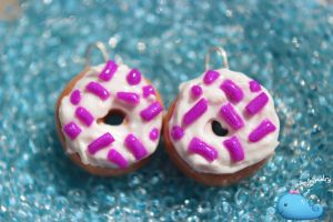 Purple Donut Earrings by Shelby-JoJewelry