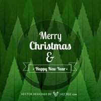 Merry Christmas Greeting Free Vector by vecree