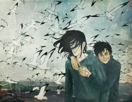 Seagulls aim at Snape by AnastasiaMantihora