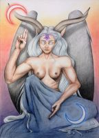Baphomet by SylvieDB