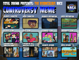 Ridonculous Race  Controversy Meme by MyLittleSquirrelGirl
