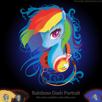 Welovefine: MLP FIM - Rainbow Dash Headphone by hinoraito