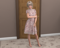 Outside Mummy's bedroom in her new dress by AmethystPendant