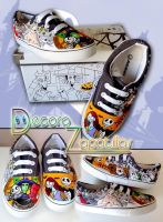 Nightmare Before Christmas shoes by Raw-J