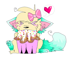 .muffin Sprinkle Sundae. by cho-click