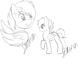 idk pony me doodles i guess by BlueGriffyon