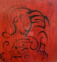 Wooden Tiger by BevyArt