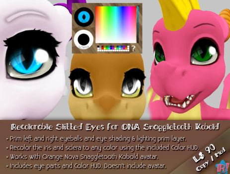 *R!* Recolorable Slitted Eyes for ONA Snaggletooth by Cari-Rez-Lobo