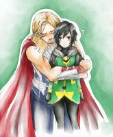 Thor x Kid Loki by danna2769