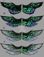 Neon Fairy Dragon Wing Concept by WhiteGoldInk