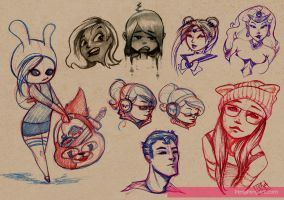 lady sketches (abt 1-2 mos ago) by Peng-Peng
