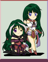 Chibis Asteria and Tejina by MahouChikara