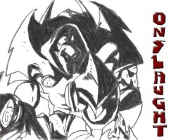 Onslaught Conte Crayon by onefryshort