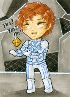 Aceo - Yes I like you by cross-works