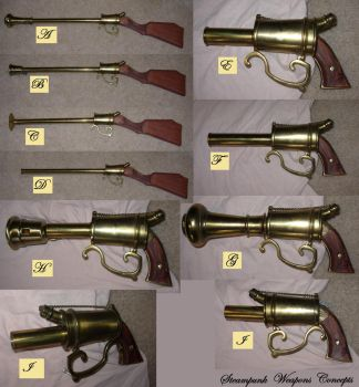 Steampunk Weapons Catalog by gollumsalterego