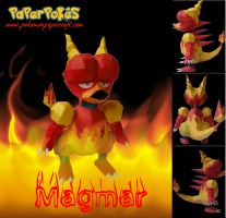 Magmar Papercraft by xDCosmo