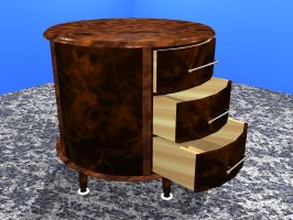 Walnut Round End Table by ThePickle