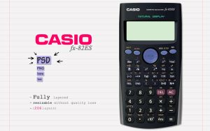 CASIO FX-82ES | PSD | Png | Ico | Icns by abdelrahman