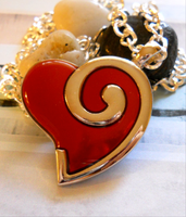 Ruby Red Heart Necklace by LypticDesigns
