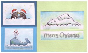 Christmas cards set 3 by BlackCloudConnected