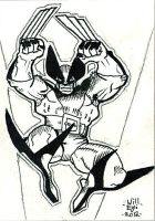 Wolverine Sketch card ACEO by SurfTiki