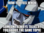 Megatron has heard this before! by menslady125