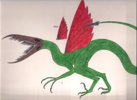 Species: Dracos Deinonychus by DRAGONLOVER101040
