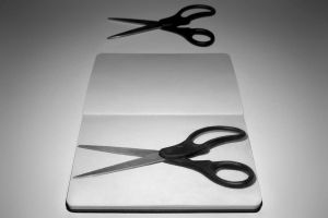 Scissors Still Life Drawing by Rollingboxes