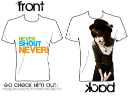 nevershoutnever tshirt design by CaramelFrappucino