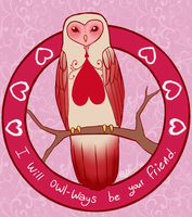 Owl Valentine by GoreFeathers